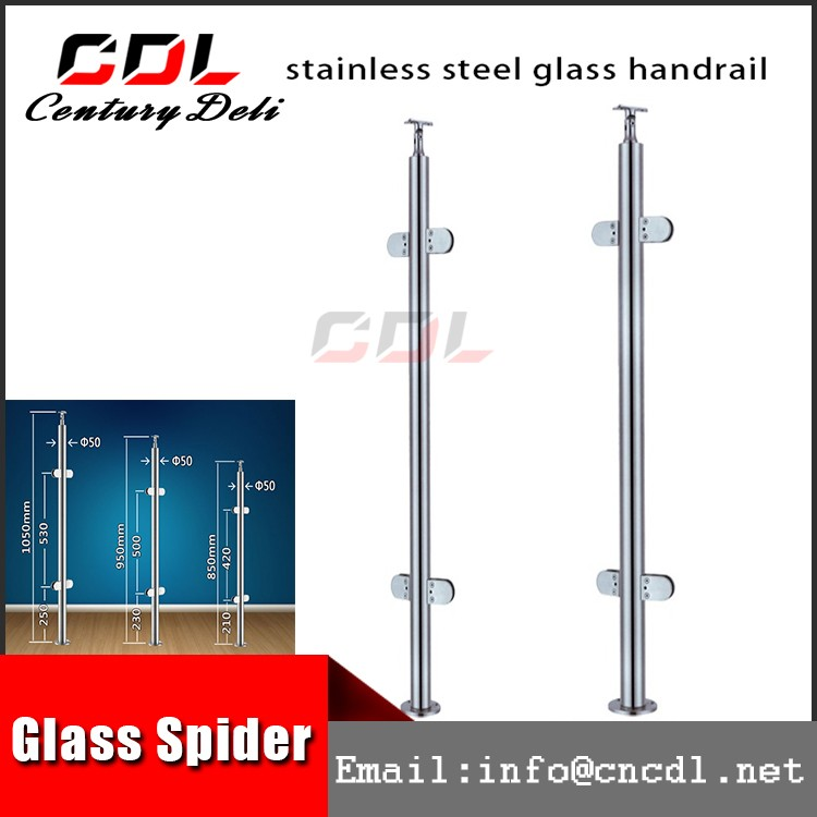 304 316 full rameless concrete baluster mold glass railing