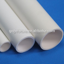 plastic water supply rigid pvc pipes fitting for irrigation pipes grey