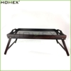 Bamboo breakfast bed tray with handle foldable legs Homex BSCI/Factory
