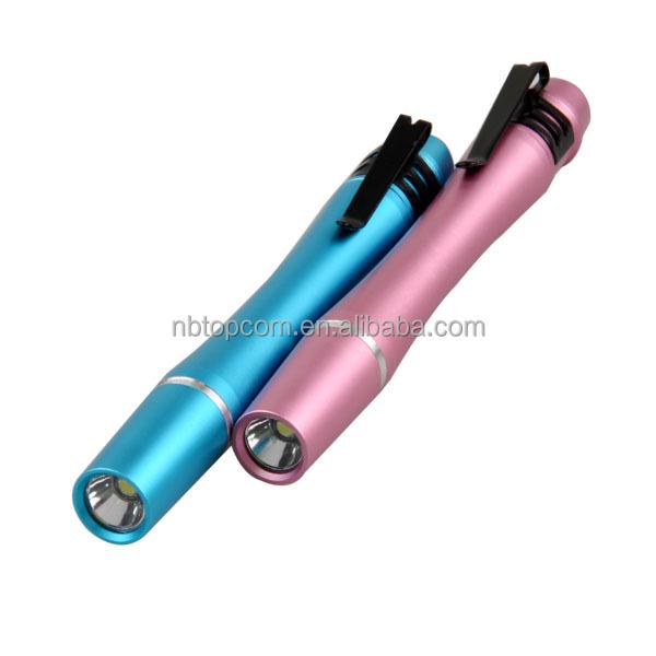 Warm White Light Aluminum Alloy Led Torch Light Pen