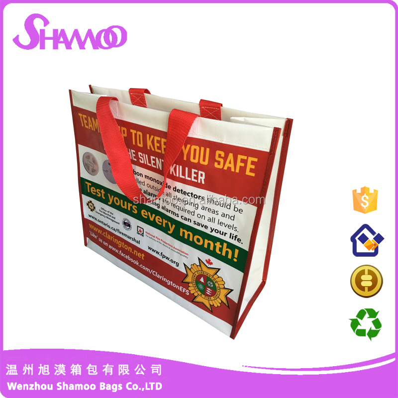 glossy Laminated Eco friendly pp woven shopping bag factory directly cheap price professional manufacturer