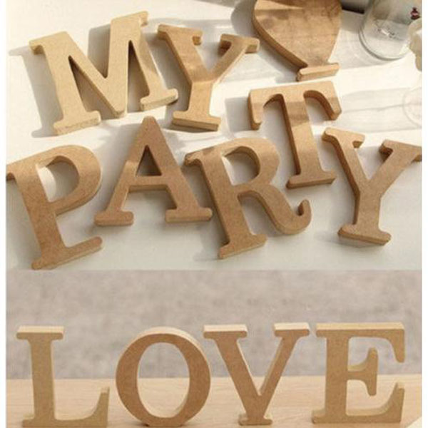 mdf wood letter alphabet word free standing wedding party home decor buy wooden words wood. Black Bedroom Furniture Sets. Home Design Ideas