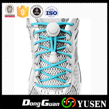 Low MOQ factory wholesales multi colors elastic reflective custom lock no tie shoelaces with stoppers