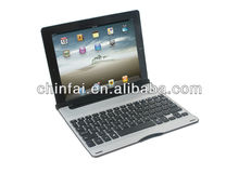 Ultrathin universal Aluminum Bluetooth Keyboard case,especial for iPad 2/3/4