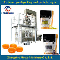 High productivity lozenges packing machine for doy pouch with zipper