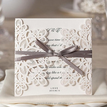 Wholesale Custom Design love theme Laser Cut wedding greeting invitation cards