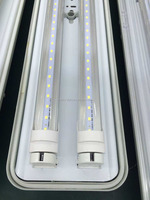 Exterior IP65 36W SMD2835 4ft TWO T8 LED Tri-proof Tube Fixture for parking lot
