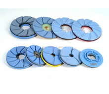JS NEW DESIGN 10CM Diamond Resin Edge Polishing Wheels