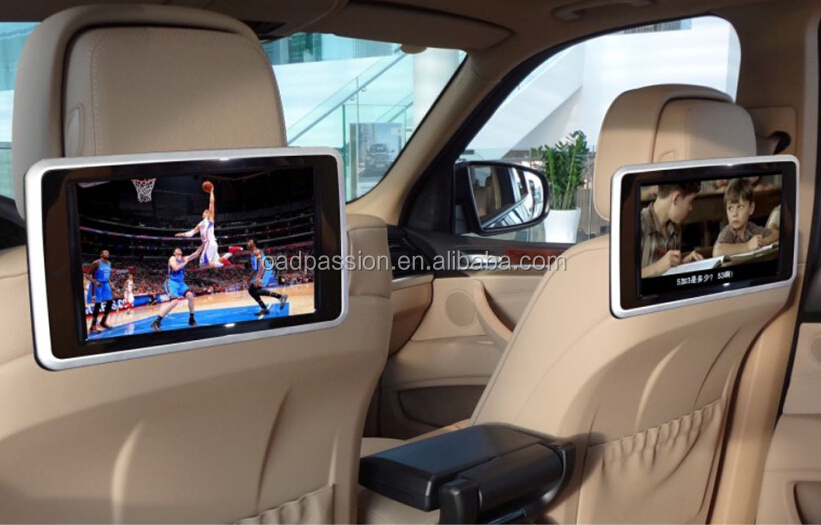 Portable Car Rear Seat Monitor With Mp5 Player And Touch