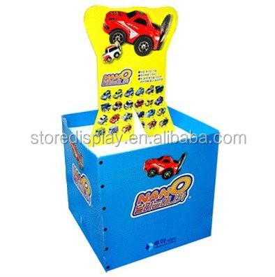 Pallet Display for Toy Car / Pop up Display Stand / Recycled Material Cardboard Display