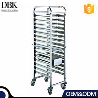 DBK Stainless Steel Tray Trolley Cart