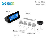 Technolgy solar power tire pressure and extrinsic tire pressure sensor images