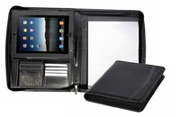 PU leather folder for iPad with zipper