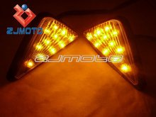 Universal Flush Mount LED Clear Turn Signals Lights For YAMAHA YZF 600RR 1996-2007 R6 R1 1999-2007 2000 01 02 03 04 05 06