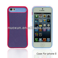 2013 hot sell new design for IPhone 5G PC+Silicon within card inside mobile phone case