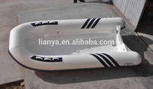 Liya CE Certified 3.6M semi-rigid fiberglass boat with Console for sale