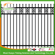 Faux wrought iron galvanized steel fence for design