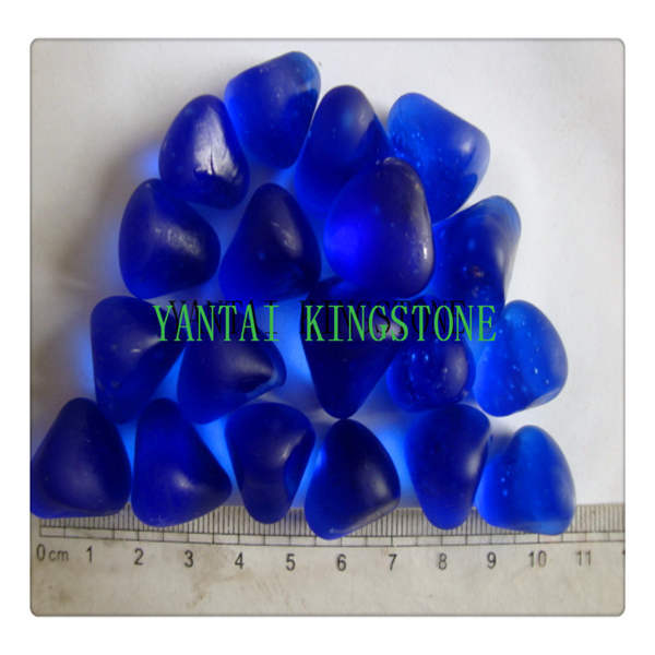 Blue Glass Pebbles