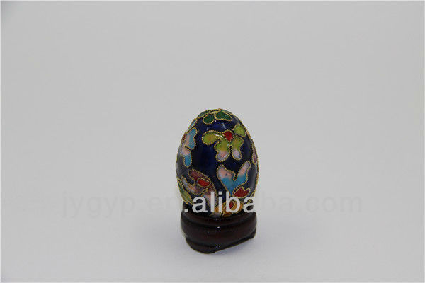 stock cloisonne dark blue eggs decor with flowers images,Easter egg