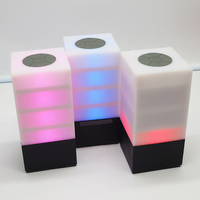 2018 Newest Design Cube Shape Led Wireless Lighted Speaker With Factroy Cheap Price