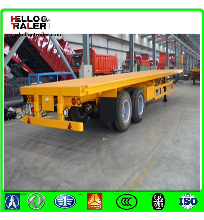 2 Axles 20ft Container Trailer Chassis