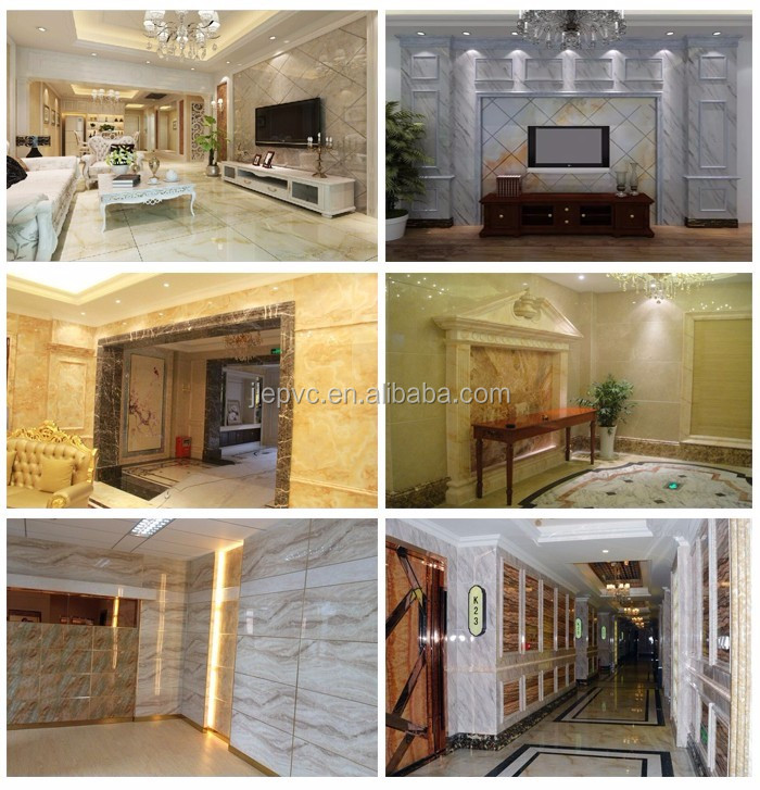 Sonsill wonderful stone faux marble pvc wall panel & pvc ceiling panel for interior decoration