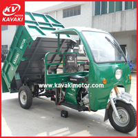 Enclose strong carriage garbage dumper tricycle smoothly hot sale in Thailand