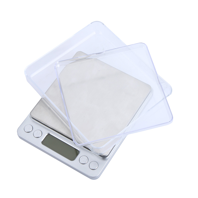 500g/0.01g High Accuracy Mini Portable Electronic Platform Digital Scale Jewelry Two Trays Scales With Counting Function