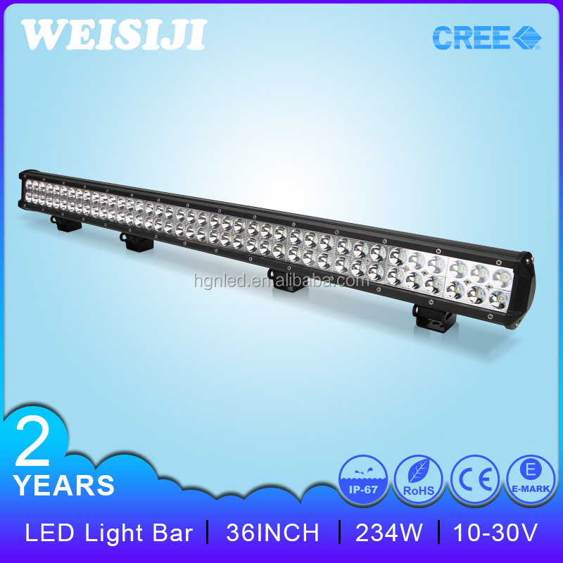 High power car accessories Dual Row led lightbar 36 inch 234w led light bar