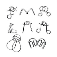 Metal Wire Puzzle IQ Mind Brain Teaser Puzzles Game For Adults And Kids Educational Toy