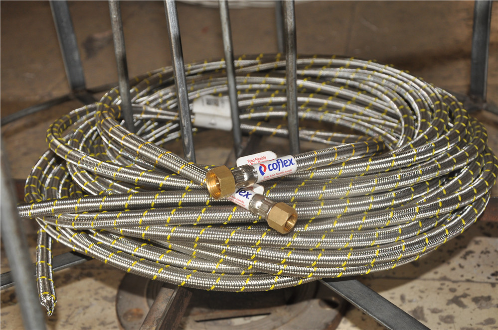 wire braided stainless steel corrugated flexible gas tube