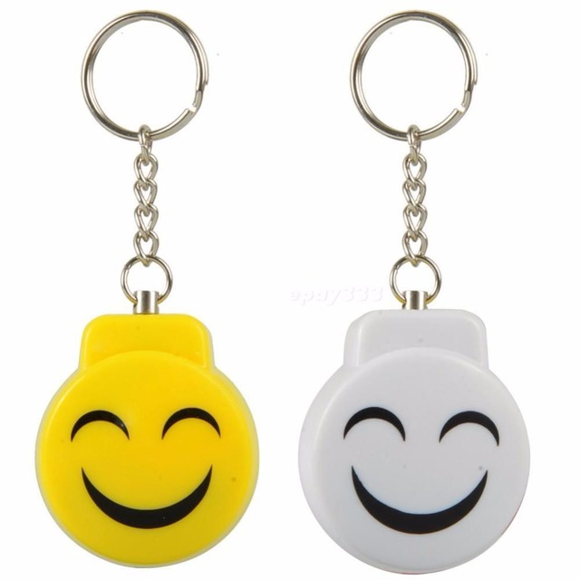 Smile Face Personal Safety Alarm Keychain Anti-attack Anti-rape Alarm