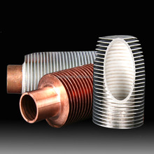 Hot sale tube type extruded copper fin tube for air condenser