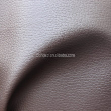 Brown color mesh fabric litchi mumbai rexine china manufacturer automotive leather