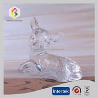 Solid Glass Deer Fawn Figurine