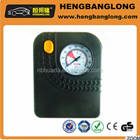 Small light black plastic case air compressor used for car tyres,best sale