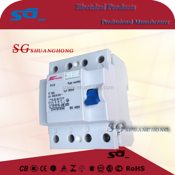 F360 residual current circuit breaker F360 RCCB 2P4POLE elcb rcbo
