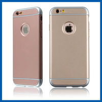C&T Ultra-thin 3 in 1 Electroplate Metal Texture Armor PC Hard Back Case Cover for Apple iPhone 6 4.7 Inch