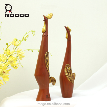 Antique Animal Sculpture Resin Chicken Statue Sets Dream Home Decoration Accessories Modern