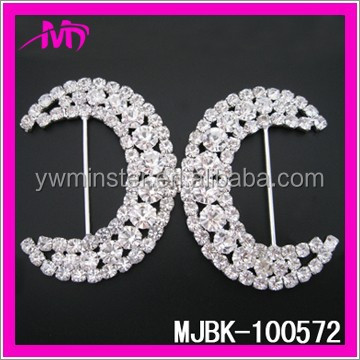 round wedding rhinestone ribbon invitation buckle ladies shoes buckle MJBK-100572