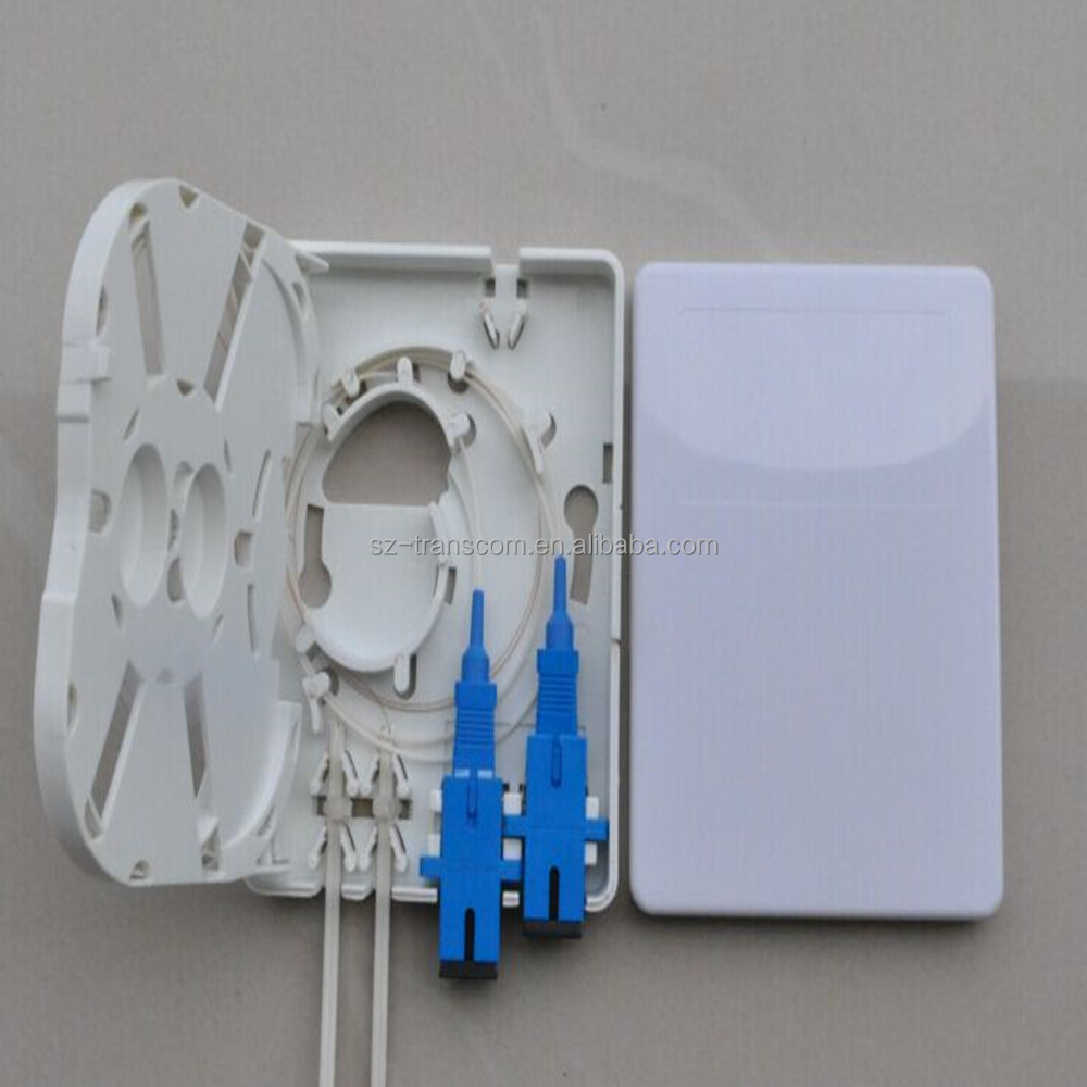 2 port FTTH wall mounted fiber optic mini terminal box/ patch panel 2 holes/FTTH Terminal Box