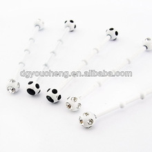 316Lstainless steel white tribal unique industrial barbell