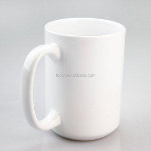 Wholesale price ceramic mugs for sublimation, promotion white ceramic sublimation mug