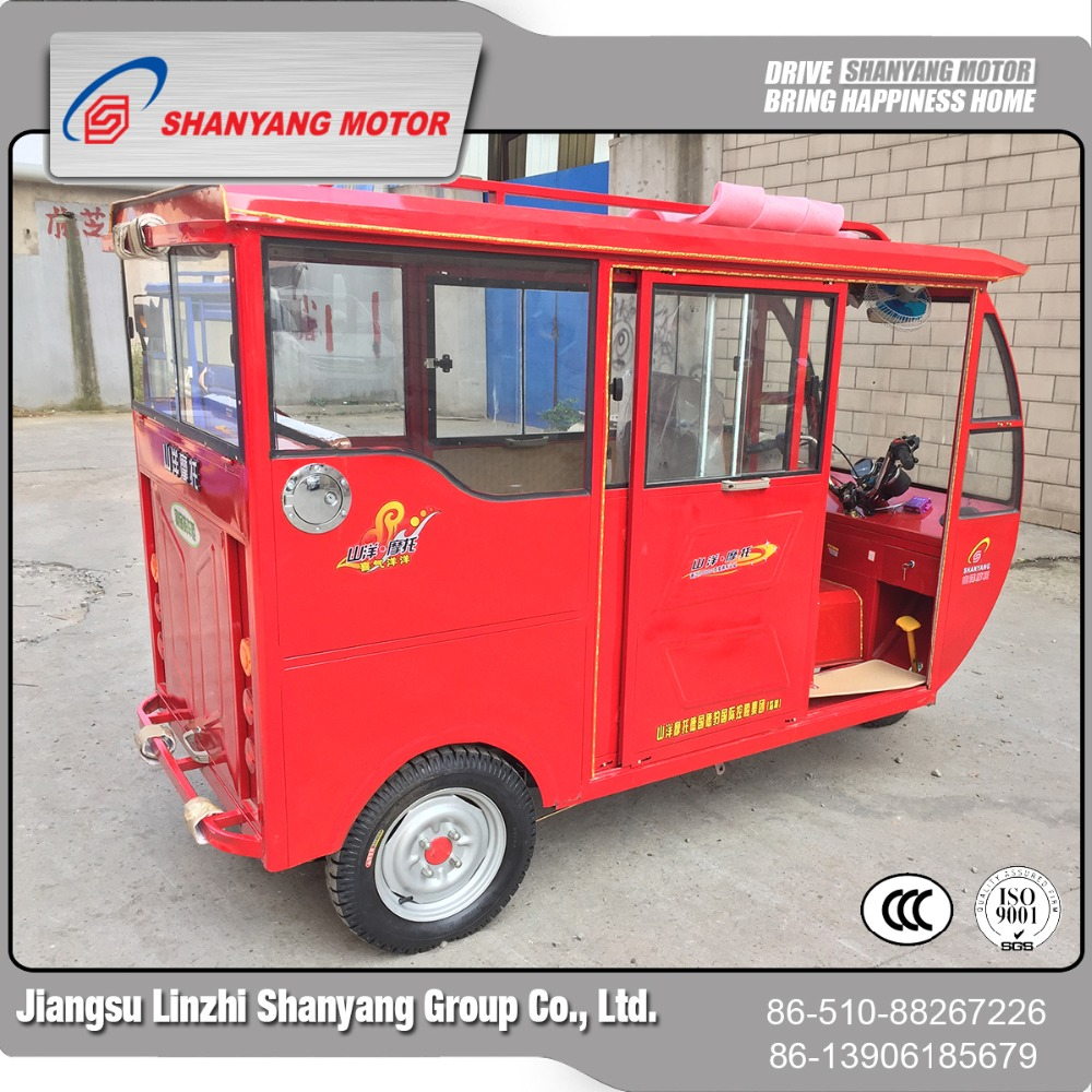 China wholesale cheap enclosed 150cc passenger tricycle folding mobility disabled scooter