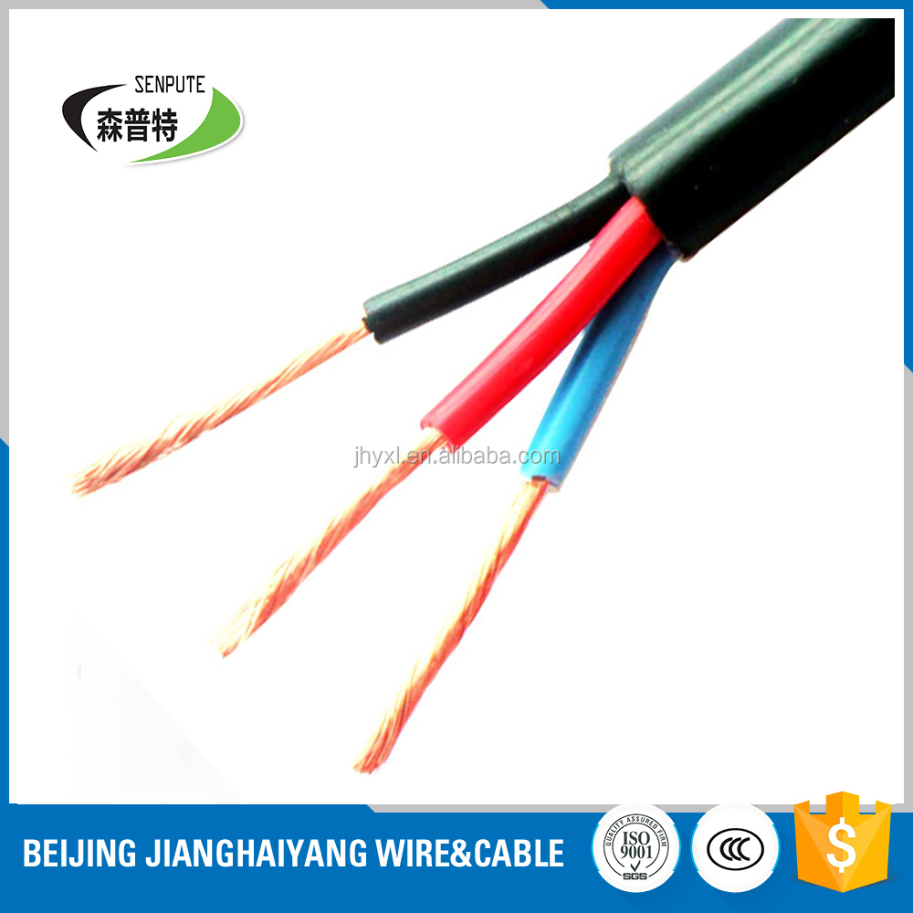 flexible pvc cover rvv with 100% copper best quality wire cable