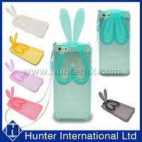 Portable Rabbit Ear Stand For iPhone 5 Soft Case