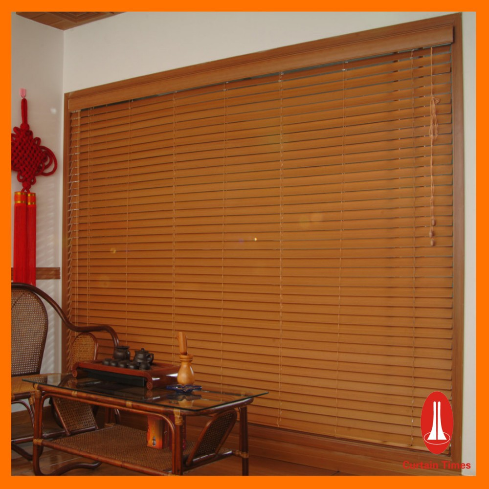 Curtain times Home Decoration Faux Wood Blind pvc Curtain window Blind