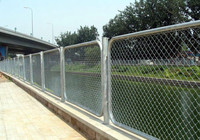 9 gauge galvanized chain link fence mesh fabric