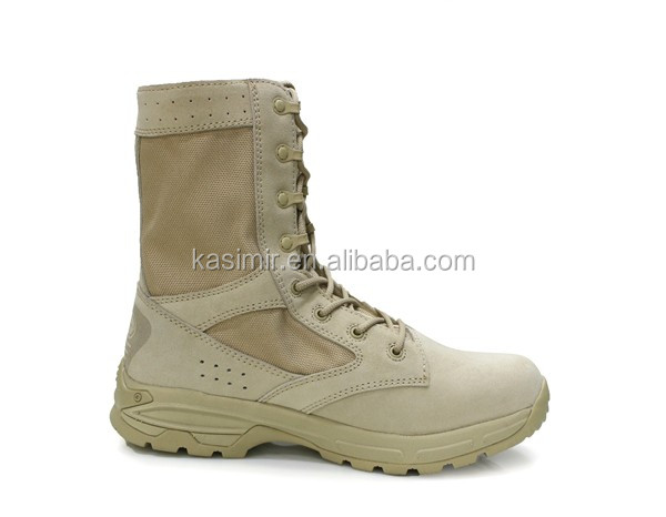 light weight Suede leather military army boots for men