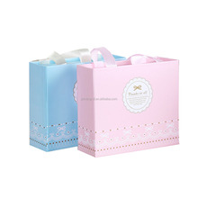 Luxury fancy paper gift box sliding cardboard box with silk handle